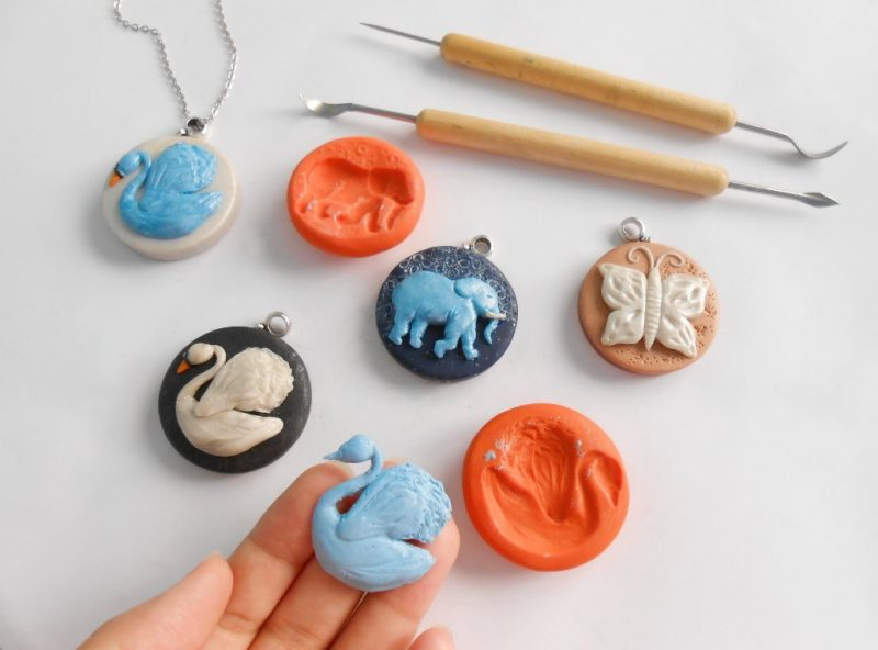 3 Polymer Clay Courses: Make Floral and Animal Necklaces and Food Miniatures - Selsal Online Gift Store & Art School