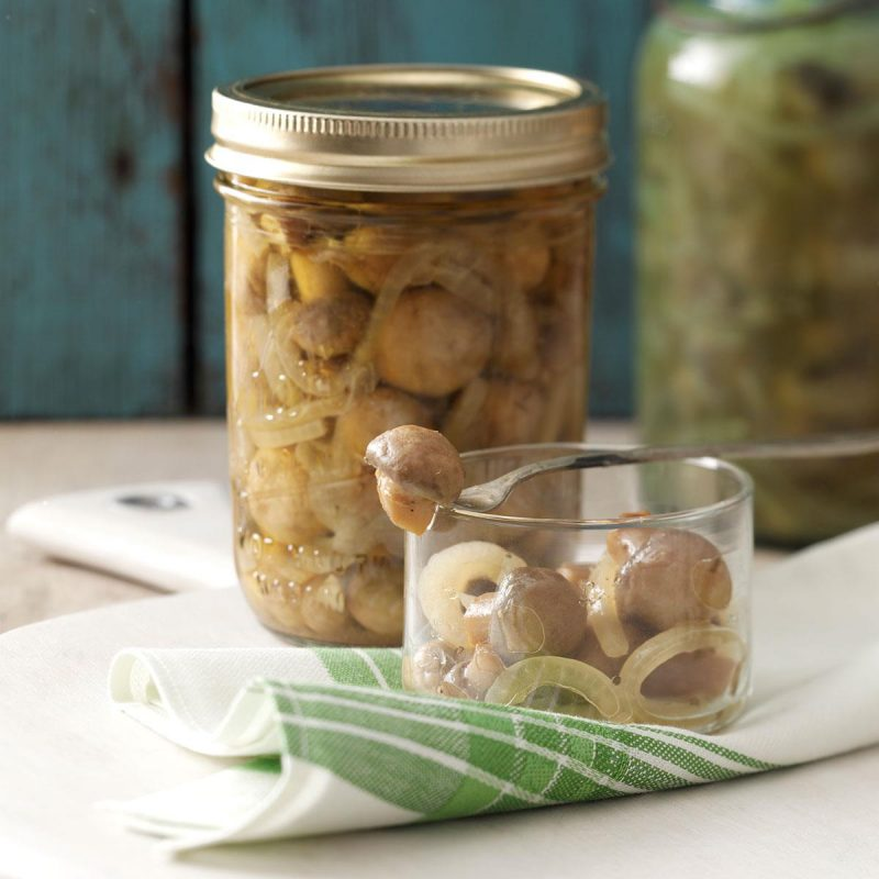 Tangy Pickled Mushrooms Recipe | Taste of Home