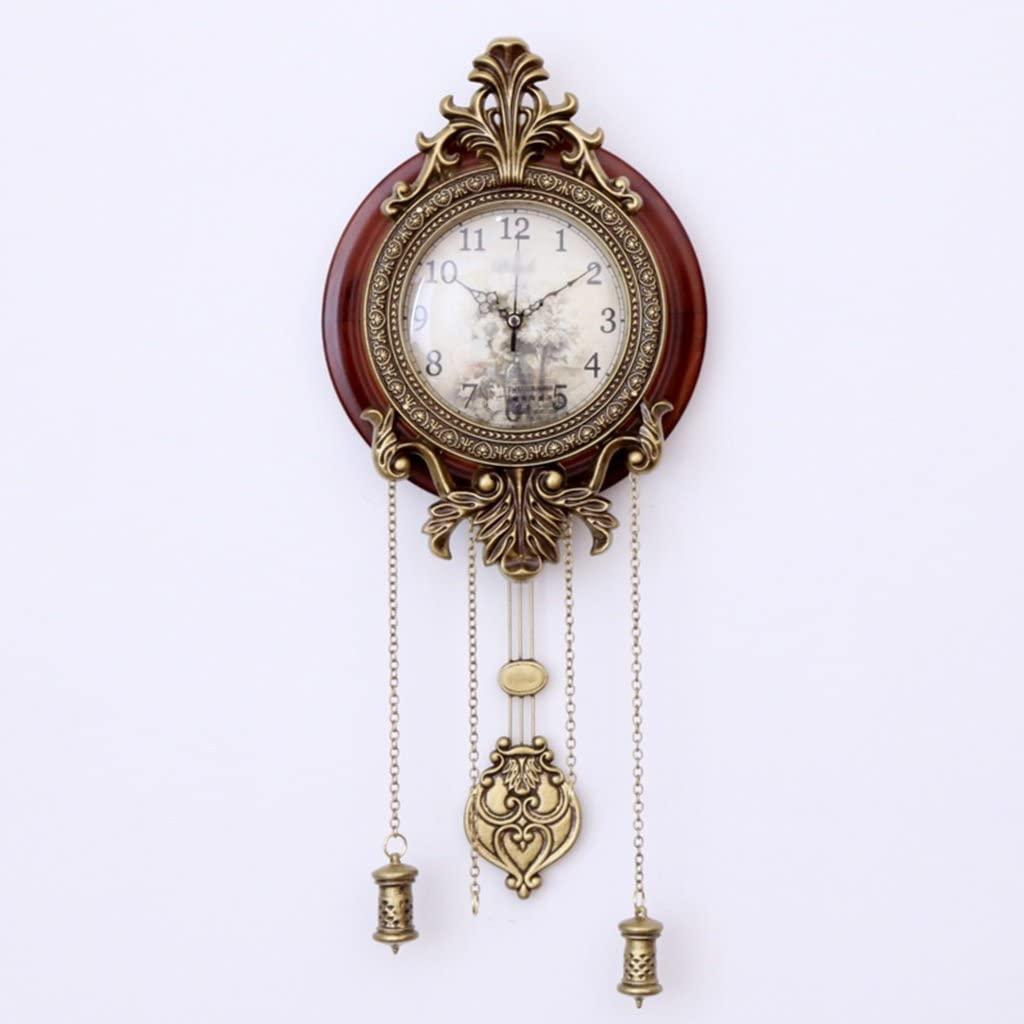 Amazon.com: Wall Clocks Living Room Wood Pendulum Clock Mute Garden Retro:  Home & Kitchen