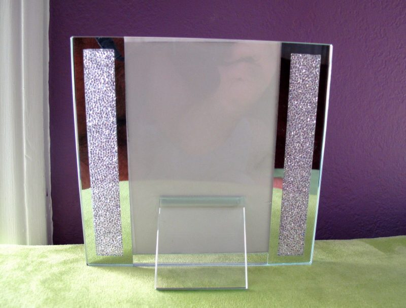 "Brand New! Swarovski Crystal Filled Picture Frame for 4"" x 6"" Photo Size"