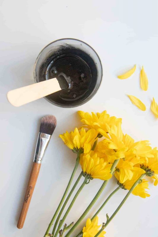 DIY Peel-Off Face Mask with Activated Charcoal   Wholefully