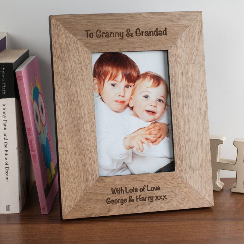 Engraved Wooden Photo Frame - Portrait Photo | GettingPersonal.co.uk
