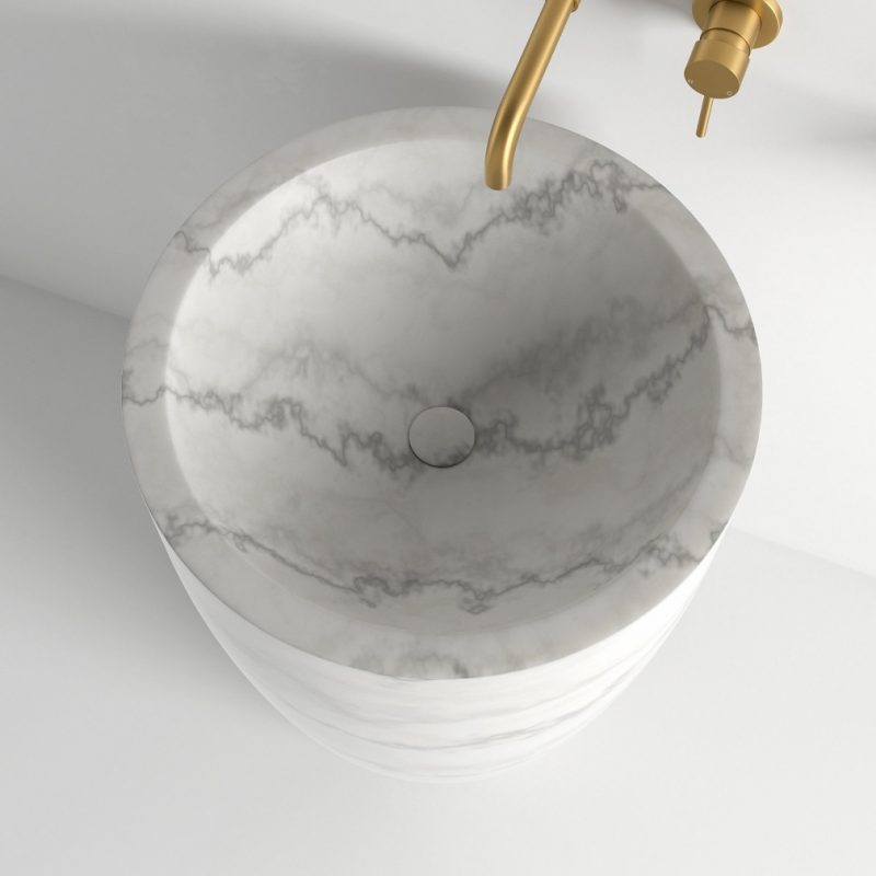 Flori Carrara Freestanding Marble Basin 560