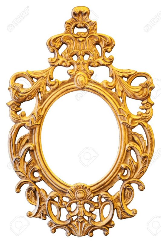 Gold Ornate Oval Frame Isolated On White Background Stock Photo, Picture  And Royalty Free Image. Image 29103282.