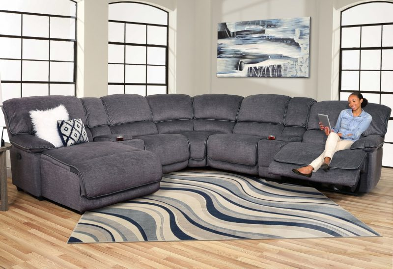 Grenada 7 Piece Power Reclining Sectional Sofa with Chaise - Kane's  Furniture
