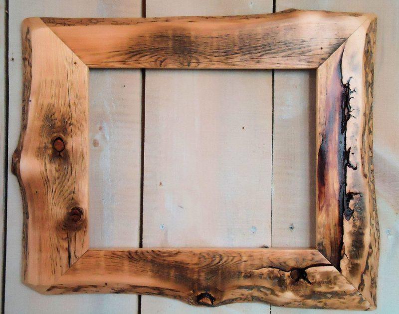 Handmade Rustic Wood Frame, 11x14 Clear Poly   Wood picture frames, Rustic frames, Handcrafted picture frames