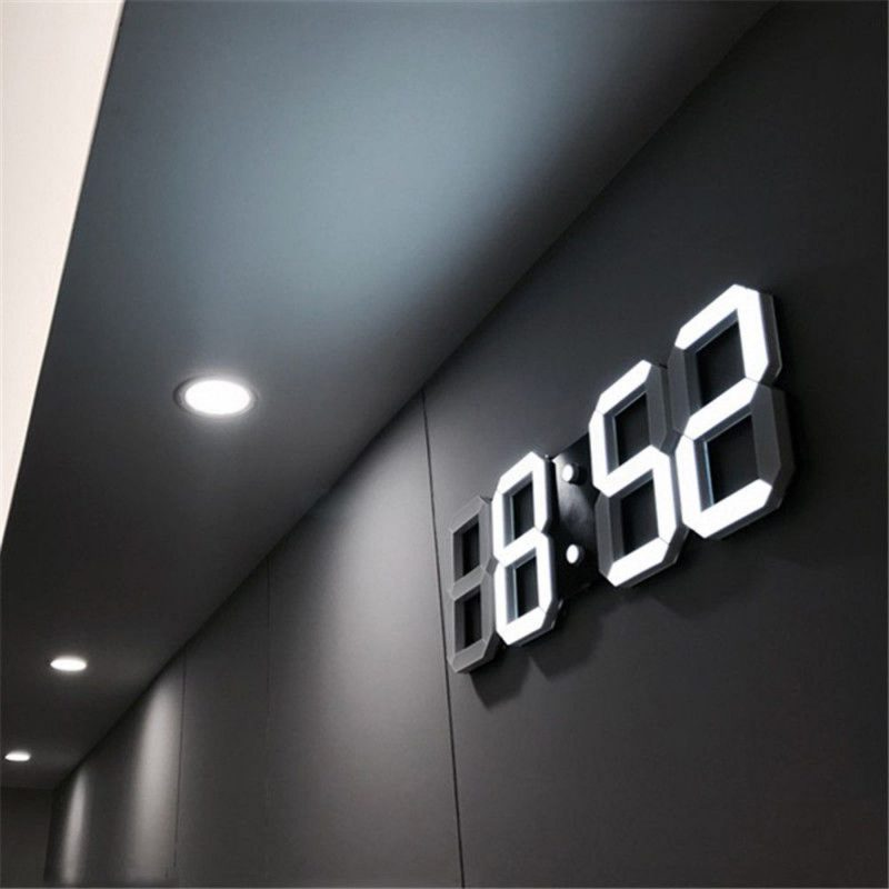 Lux LED Large Display Digital Wall Clock | Led wall clock, Wall clock  modern, Wall clock light