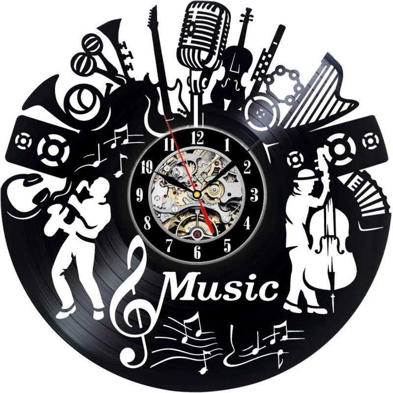 Music Design Handmade Vinyl Record Wall Clock - VINYL CLOCKS