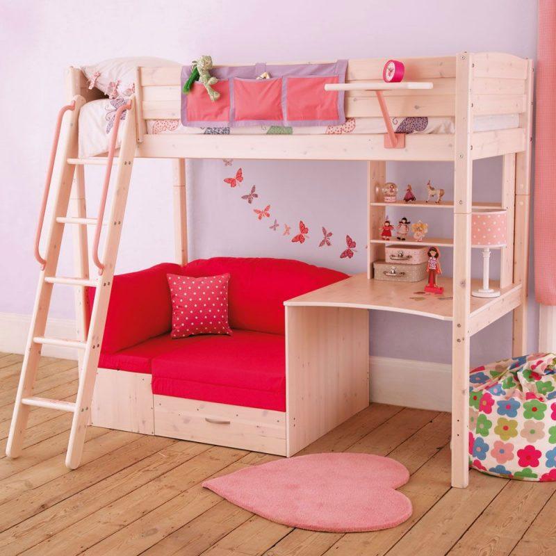Nordic Single Highsleeper Bed - Whitewash- cool college bed | Cool loft beds,  Girls loft bed, Bed design