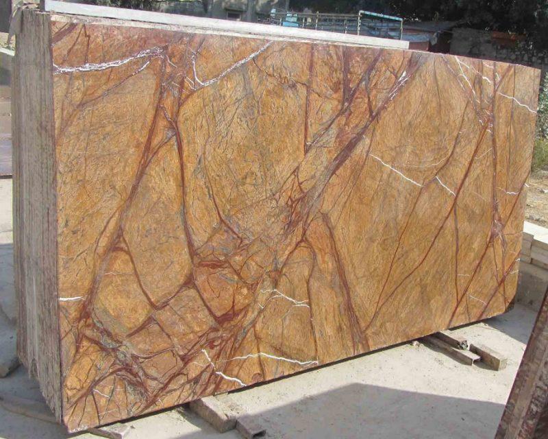 Rain Forest Brown Standard Gangsaw Size Marble Slab 30mm   Ostabay