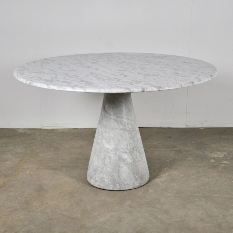 Round Carrara Marble Dining Table by Angelo Mangiarotti, 1970s | #117094