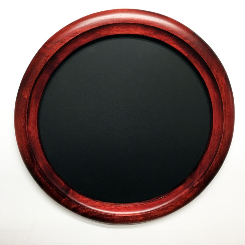 Round Red Frames - Crone's Custom Woodworking