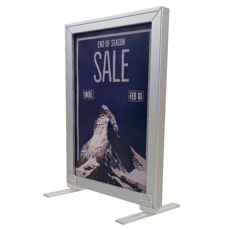 Slide in poster frames - Aluminium   Sign-Holders.co.uk