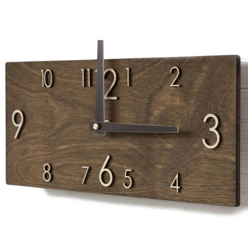 Wooden Wall Clock - Modern Wall Clock - Wood Wall Clock - Rustic Wall –  PromiDesign, US