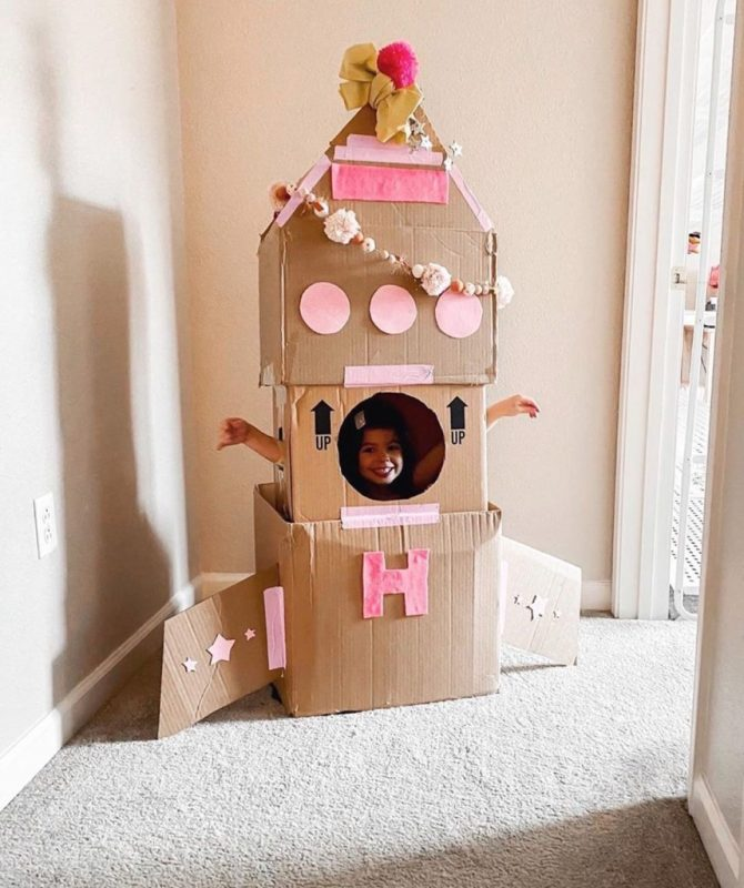 15 Beautiful DIY Cardboard Playhouses Your Kids Will Want to Live in! –  Cozy Nursery