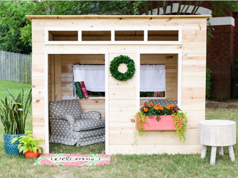16 Free Backyard Playhouse Plans for Kids