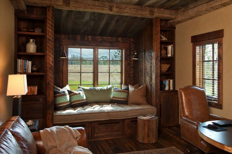 20+ Incredibly cozy book nooks you may never want to leave! | Rustic home  offices, Window seat design, Cabin interiors