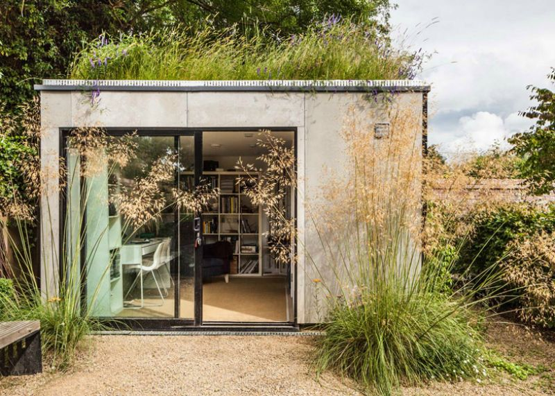 21 Modern Outdoor Home Office Sheds You Wouldn't Want to Leave | Garden studio, Green roof, Architecture