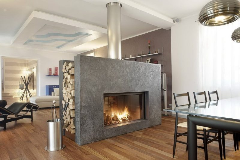 25 Epic Double Sided Fireplace Ideas for This Winter