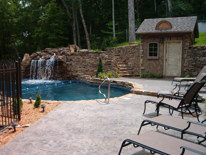 75 Beautiful Rustic Pool House Pictures & Ideas - October, 2020 | Houzz
