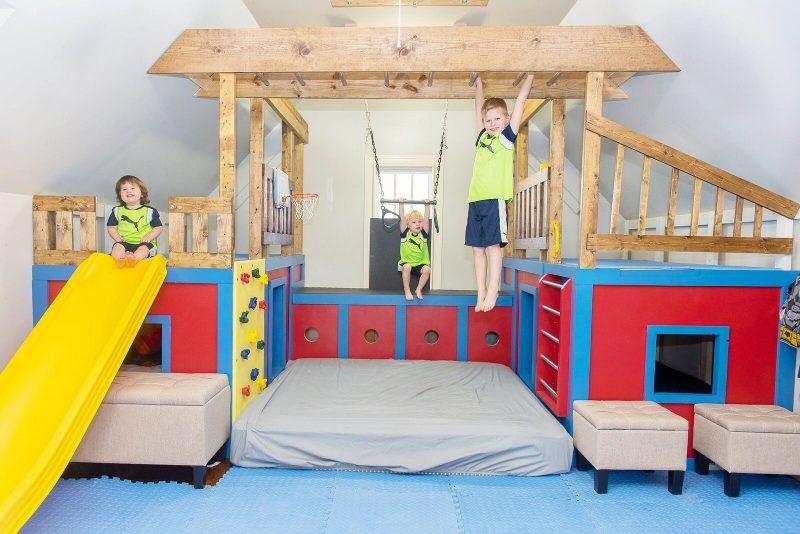 Ana White | Indoor Playground Set - DIY Projects | Indoor playroom, Indoor  playground, Indoor playground diy