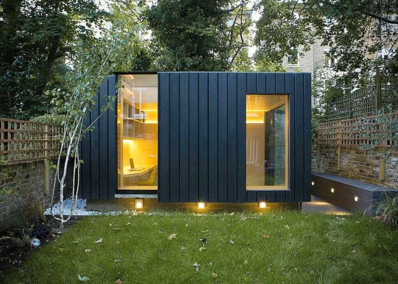 Architizer | Backyard office, Garden cabins, Garden studio
