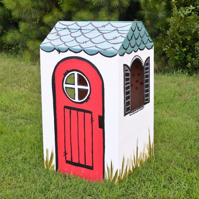 DIY: Cardboard Box Playhouse - Project Nursery