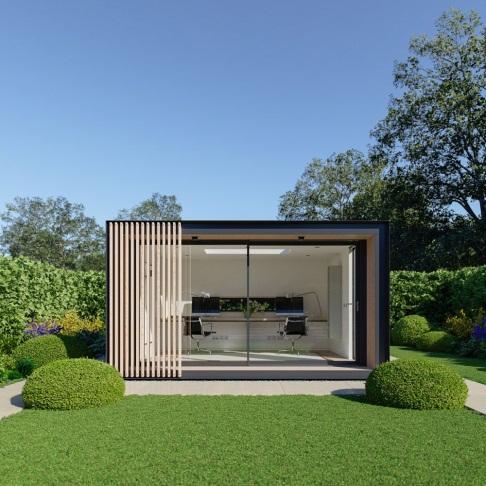 """garden room   office    """"Sky Pod"""" by Pod Space   Garden cabins, Backyard office, Garden pods"""