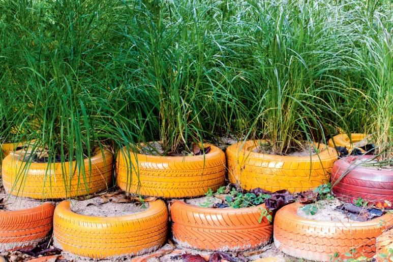 Jak zrobić ozdoby z opon do ogrodu? - e-ogrody
