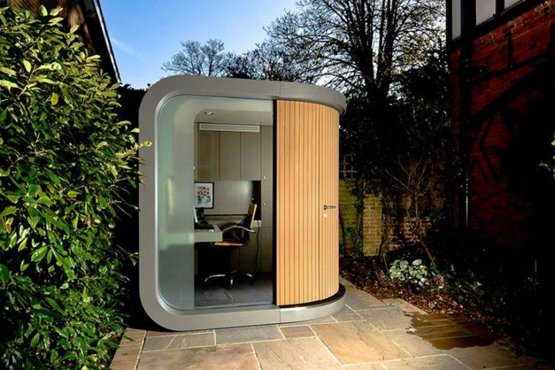 OfficePOD: The Office Space Alternative -   Backyard office, Office pods, Outdoor office