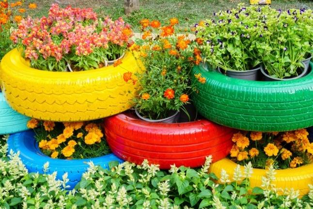 Reusing Tires in the Garden | ThriftyFun