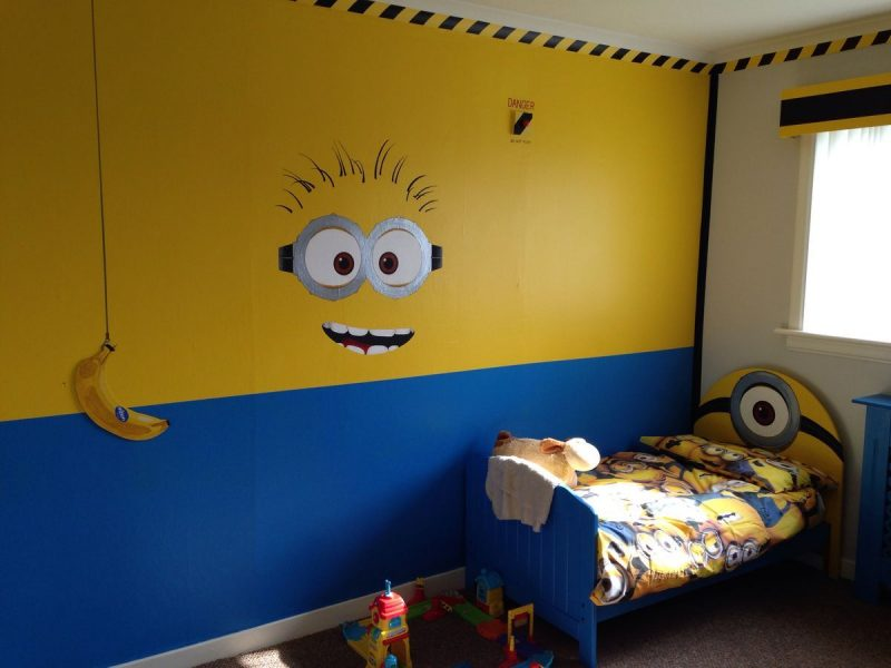 0f0e4462e3b8828431f5976a932311ac.jpg 1,200×900 pixels | Minion bedroom, Minion  room, Minion room decor