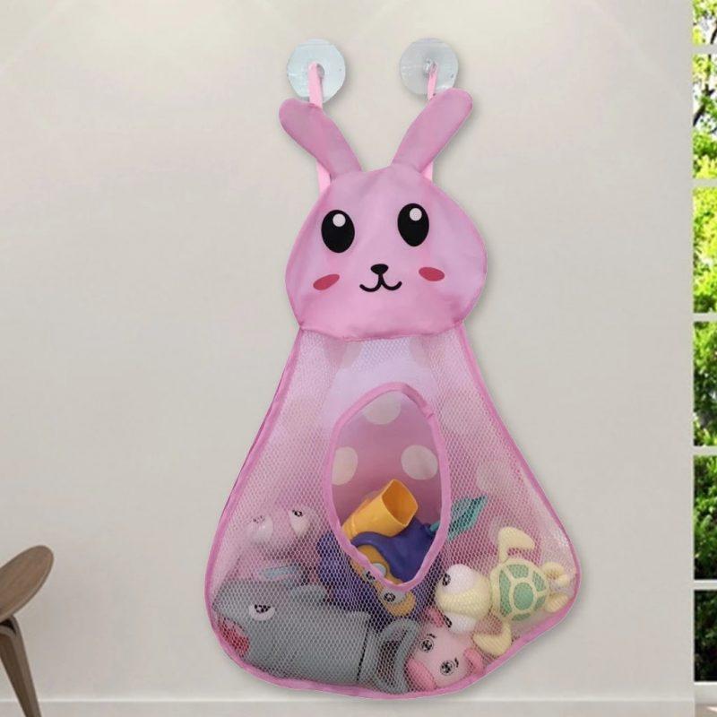 Baby Bathtub Cartoon Rabbit Toy Storage Pocket Mesh Bathroom Wall Suction  Baby Kids Toy Organizer Net Toiletries Neaten Bags|Bath Toy| - AliExpress