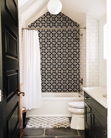 Bold Bathroom Tile :) Visit us at www.thebathroomboutique.ie to view our  moroccan tile collection. #Morocca… | Tile remodel, Bathrooms remodel,  Bathroom inspiration