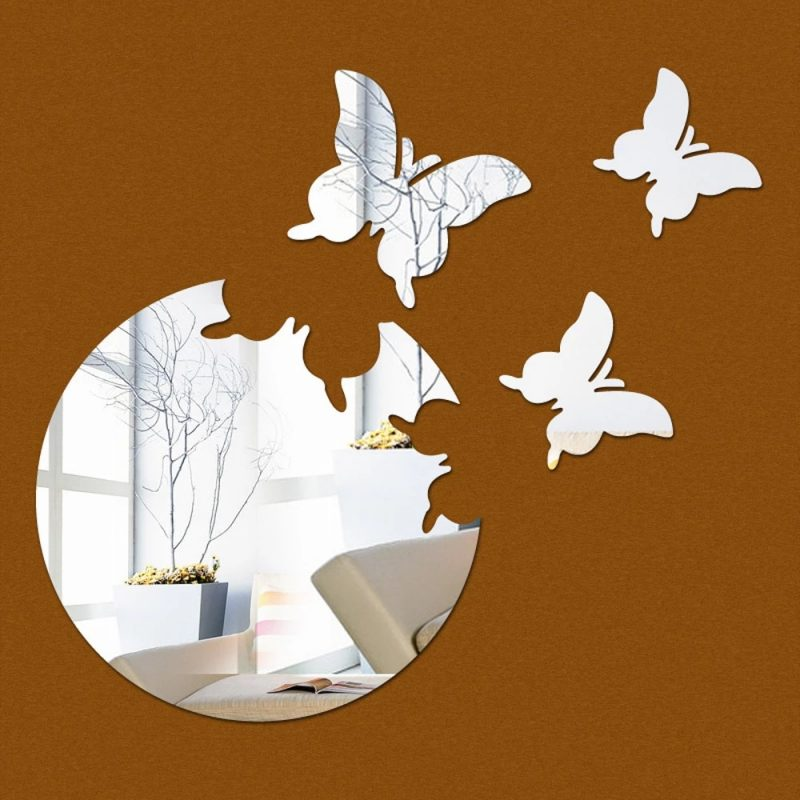 Butterfly DIY Acrylic 3D Mirror Wall Stickers Home Room Decoration WALL ART Decals Wall Decor|stickers home decor|wall stickers home decor3d mirror wall stickers - AliExpress