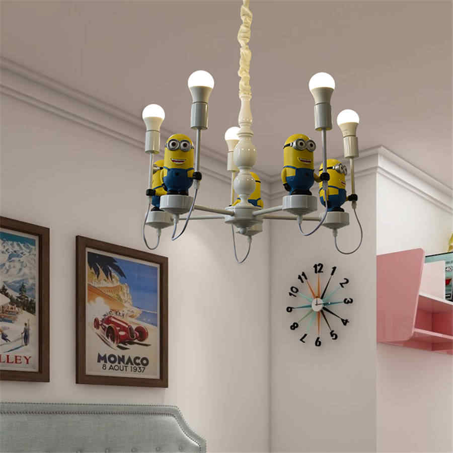 cartoon cute minions pendant lights for Children bedroom living room  kitchen hanging lamp creative loft decor light fixtures| | - AliExpress