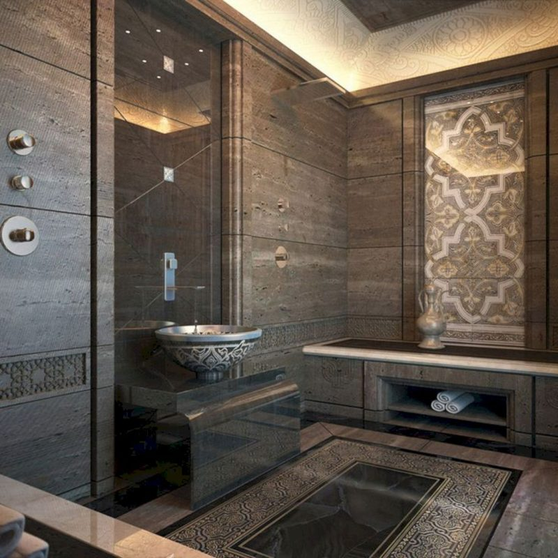 Cool 22 Luxurious Moroccan Bathroom Design That You Will Be Inspired https://usdecorating.com/8310-22-luxu… | Moroccan bathroom, Bathroom interior, Minimalist decor