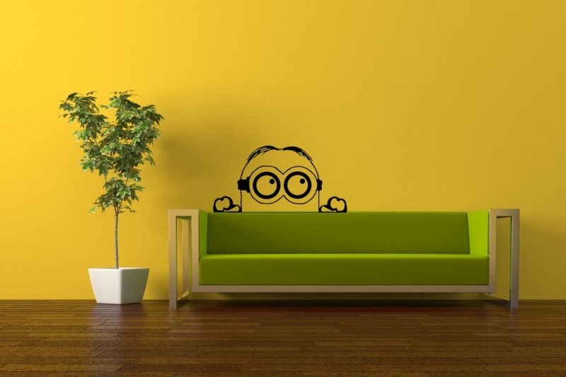 Despicable Me. Minions Wall Art / Vinyl Decal. Home Decor - Living Room /  Bathroom /Bedroom / Kitche on Luulla