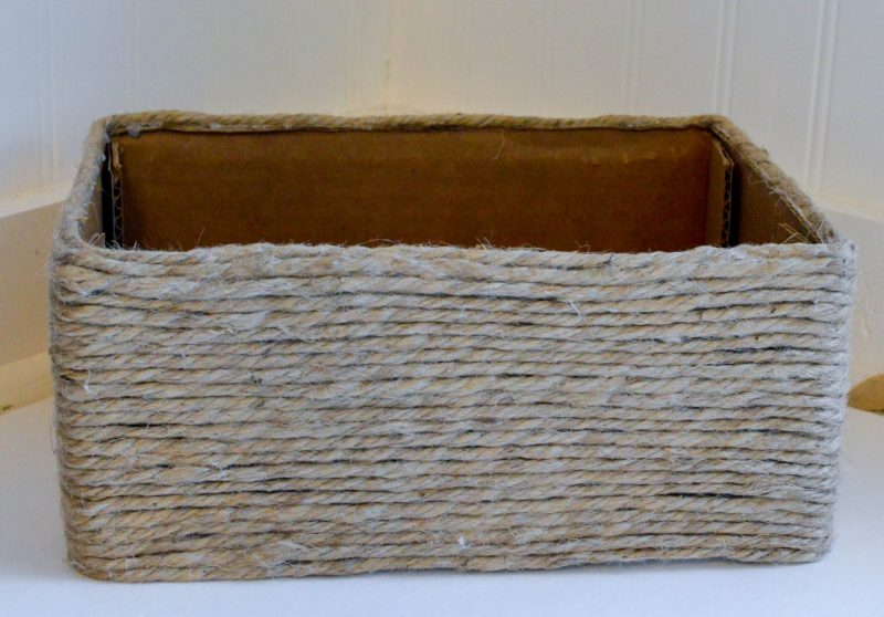 DIY Woven Basket {easy, cute & affordable!} - The Simply Organized Home