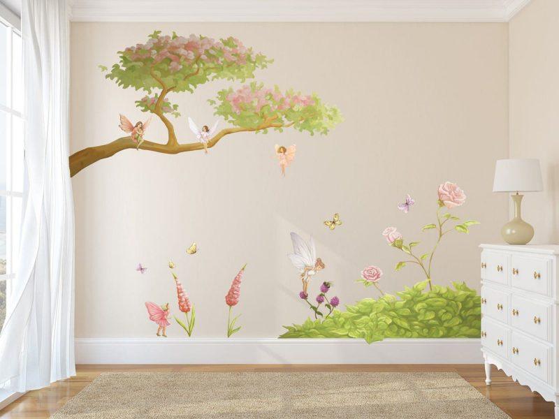 Fairy Woodland Set, beautiful for any little girls room. | Wall decal fairy, Fairy wall art, Girls wall stickers