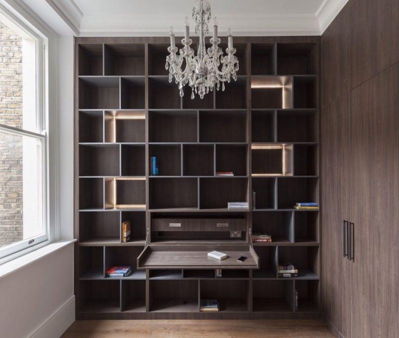 Hidden desk bookshelf | Luxury desk, Custom bedroom furniture, Home office design