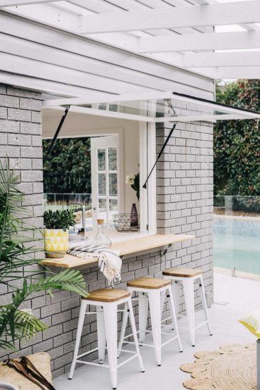 Inspiring Outdoor Spaces | Window Bar Patio Inspiration | The Identite  Collective | Beach house style, House styles, House exterior