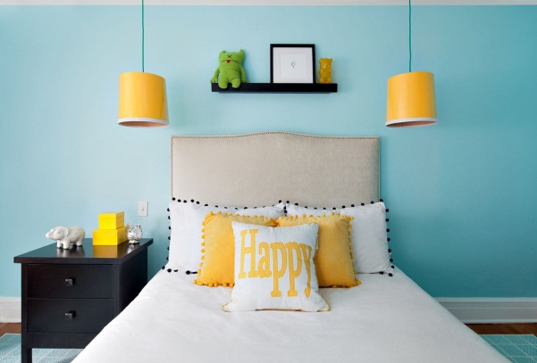 Irradiate the Cheerfulness of Yellow - Bedroom Lighting Ideas - Cool  Bedroom Lights