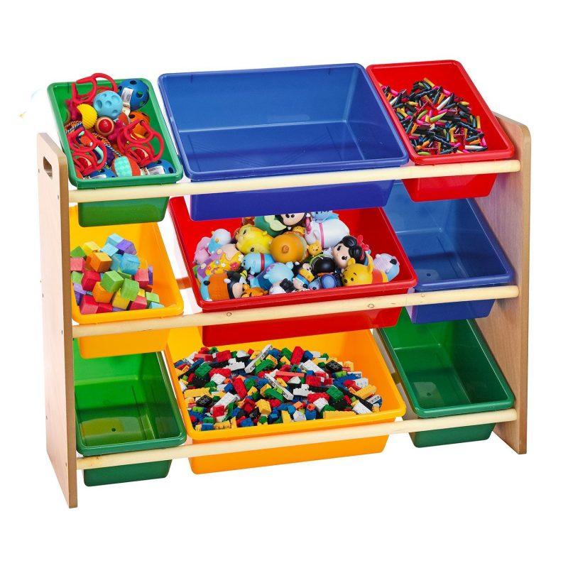 Kids Children Toys Storage Rack Bookshelf Playroom Plastic Boxes Toys  Organizer | eBay
