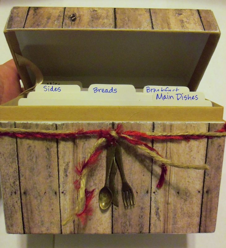 live. love. scrap.: Recipe Box DIY