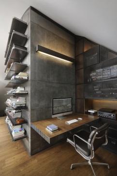 Loft 9b by Dimitar Karanikolov | Home office design, Interior architecture  design, Loft design