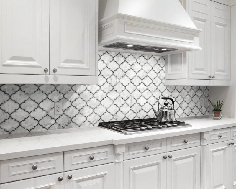 LOVE this Moroccan style backsplash with dark grout from Floor & Decor! | Floor decor, Kitchen remodel, Kitchen design