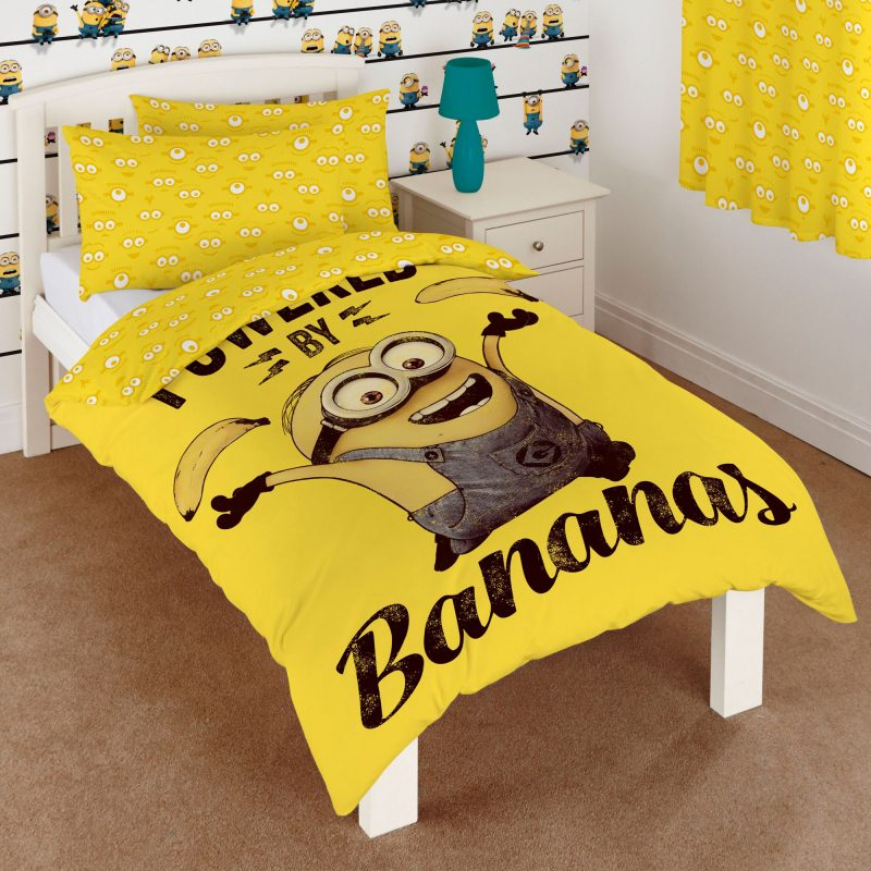 Minions Yellow Single Bedding set | Departments | DIY at B&Q