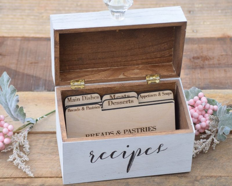 recipe card box - recipe card holder - recipe box – Country Barn Babe