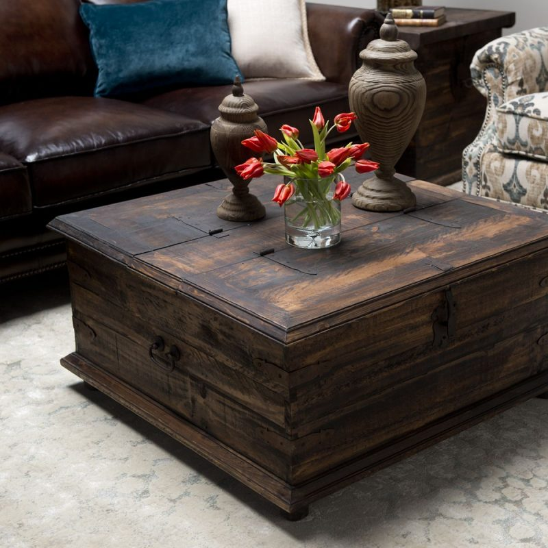 Rustic coffee table/trunk includes hinged lid for handy storage. Coffee  table | Coffee trunk | Home dec… | Chest coffee table, Coffee table square,  Diy coffee table